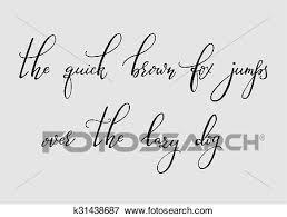 Calligraphy Cursive Font Clip Art K31438687 Fotosearch