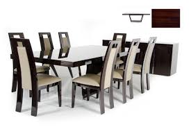 High Gloss Dining Table Christa Modern Ebony High Gloss Dining Table