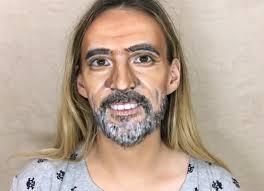 watch woman transform into negan in incredible makeup tutorial video