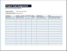 work assignment template co project task assignment management sheet word excel templates