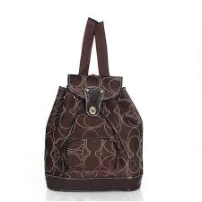 Coach Classic In Signature Medium Coffee Backpacks ADA