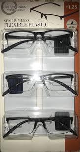 Design Optics Full Frame Flexible Plastic Design Optics Foster Grant Semi Rimless Flexible Plstic 1 25