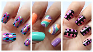 Easy Nail Art For Beginners!!! #18 | JennyClaireFox - YouTube