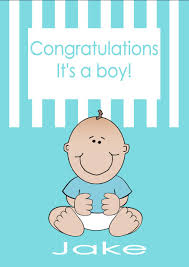 Personalised New Baby Boy Card Design 2