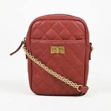 Chanel Shoulder Bags Chanel Red Quilted Leather Gold Tone