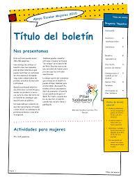 Formatos De Boletines Informativos Modelo De Boletin 1