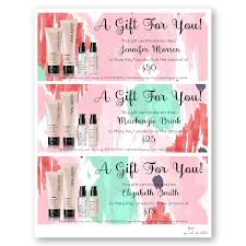 mary kay gift certificates
