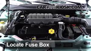 replace a fuse 1995 2000 chrysler cirrus 1998 chrysler cirrus locate engine fuse box and remove cover