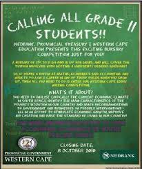 bursary essay writing competition western cape government click here to view advert