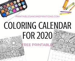 Plenty of space in the squares to fill in dates, holidays, and birthdays. Free Printable 2020 Coloring Calendar Pages Printables And Inspirations