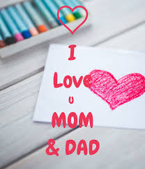 i love u mom dad