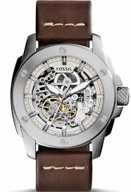men 039 s fossil machine automatic steel watch me3083 click an image to enlarge