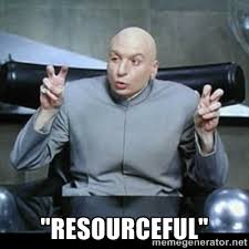 "Resourceful"" - dr. evil quotation marks 