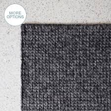 custom made cable knit hand woven braided wool rug dark grey
