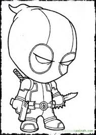 Small Picture Deadpool Coloring Pages To Print Comic Book Coloring Pages