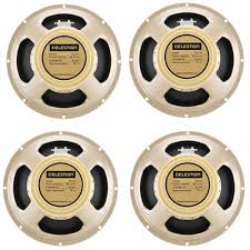 g12 g12m 65 creamback 65 8 ohm 4 off celestion guitar speakers celestion g12 g12m 65 creamback 65 8 ohm 4 off