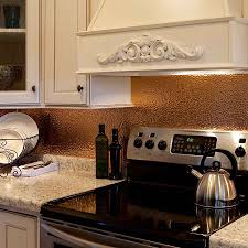 Kitchen Backsplash Panel Fasade Backsplash Hammered In Polished Copper