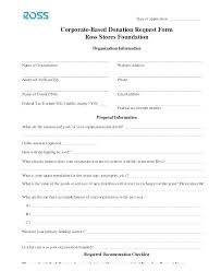 Car Donation Form Template