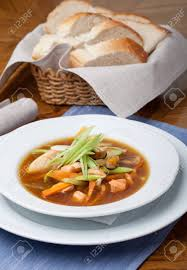 Asian Seafood Soup Stock Photo, Picture ...
