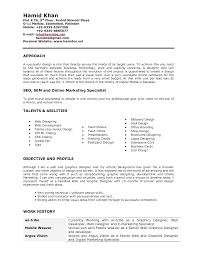 Sample Resume Of Graphic Designer Graphic Design Resume Sample