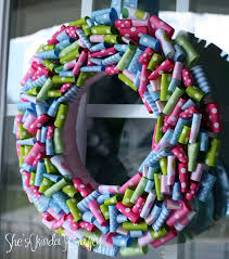 spring wreath for front doorTop 5 Crafty Spring Wreaths  Club Chica Circle  where crafty is
