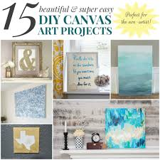 Diy Canvas Art 15 Beautiful Super Easy Diy Canvas Art Projects For The Non Artist