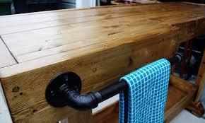 diy rustic bar. Rustic DIY Console Table Diy Bar E