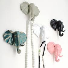 european animal head hanging creative home accessories resin coat hooks decorative wall hooks hanger