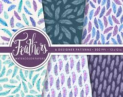 feather patterns boho feather paper pack bohemian pattern paper feather etsy