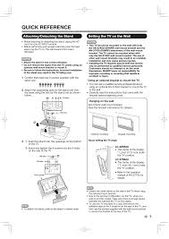 quick reference attaching detaching the stand setting the tv on the wall sharp aquos lc 37d64u user manual page 7 44