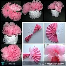 Paper Flower Making Video Tissue Paper Crafts Art And Craft Ideas With Tissue Paper Arts And