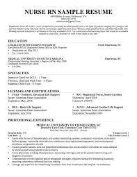 New Grad Rn Resume Template Nurse Resume Skills New Grad Nursing
