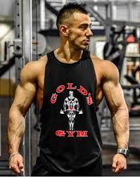 brand bodybuilding stringer tank tops men fitness golds gyms