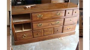 Modern picture of vintage solid oak wood drawer pulls dresser