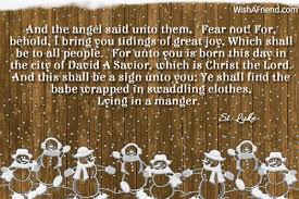 Religious Christmas Quotes Gorgeous And The Angel Said Unto Them Religious Christmas Quote