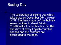 Image result for feast of st stephen and boxing day