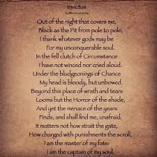 what makes the poem invictus by william ernest henley so   invictus is an adjective in latin meaning unconquerable or unsubdued if that is a word to answer the question here are the reasons why invictus is
