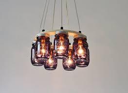 mason jar lighting fixture. Mason Jar Chandelier Ring Lighting Fixture, 8 Ball Heritage Collection  Purple Pint Jars Mason Jar Lighting Fixture