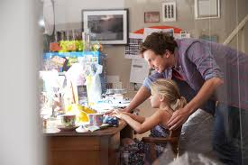 running home office. Download Father With Daughter Running Small Business From Home Office Stock Image - Of Happy A