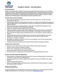 Career Advisor Resume Example Unique College Student Advisor Resume with Resume Sample for 15