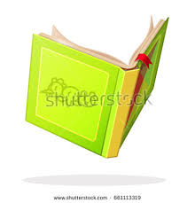 vector cartoon object ilration open book clip art isolated on transpa background hand