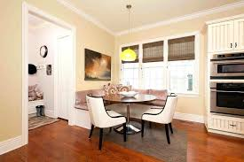 round banquette seating round table banquette seating kitchen traditional with custom banquette roman shades wood flooring round banquette