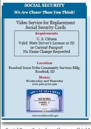 A new or replacement social security card is free from the social security administration, but why waste all of that time and effort when you can have it done for you? Social Security Offers Video Service For Replacement Social Security Cards Lakota Times
