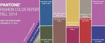 pantone fall color 2014 trends