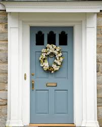 exterior house doors. This House Has Stone Front Exterior. It A Light Teal Blue Colored Door Exterior Doors N