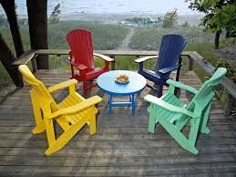 plastic colored adirondack chairs for decor planning a summer pool party thetarsonbellyflop