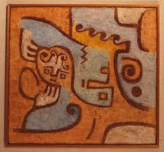 the earliest painting dated to 1902 was created when klee was a young artist in münich just before he found himself attracted by the primitivist zeal of