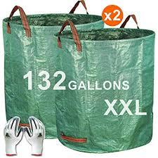 garden bags. Exellent Bags Gardzen 2Pack 132 Gallons Gardening Bag With Gloves  Extra Large  Reuseable Heavy Duty Garden Bags A
