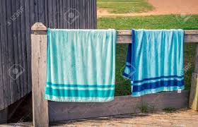 Image Bohemian Hanging Beach Towels Stock Photo 75423256 123rfcom Hanging Beach Towels Stock Photo Picture And Royalty Free Image
