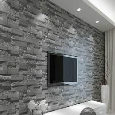 modern 3d three dimensional design wallpaper roll stone brick background wall vinyl wall paper living room wallcovering w025 wallpapers wallpapers